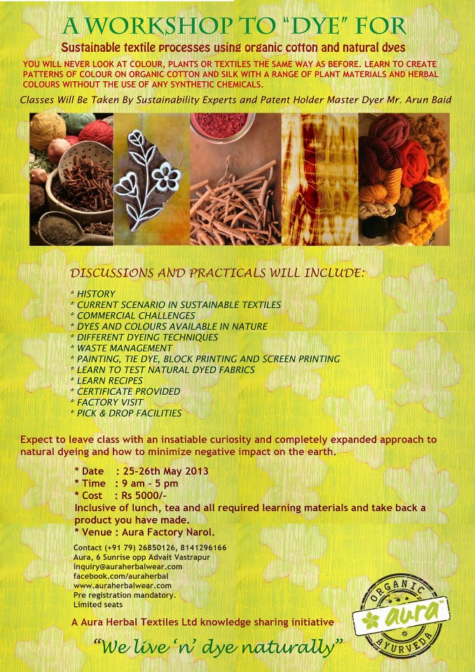 Workshop on natural dye
