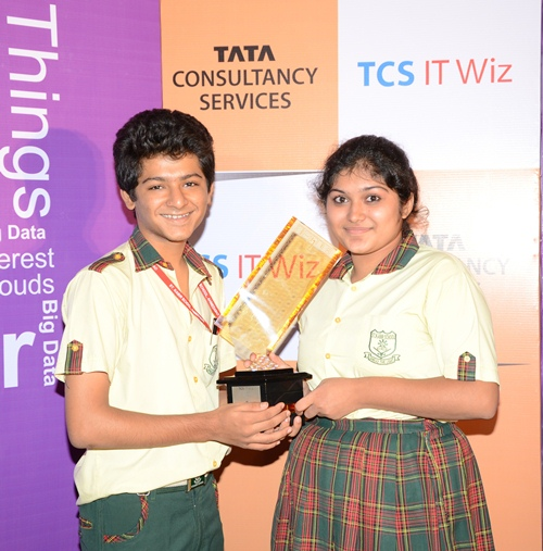 St. Kabir school students Jalaj Maheshwari and Ravija Amlani Winners of Ahmedabad regional round of TCS IT Wiz 2013