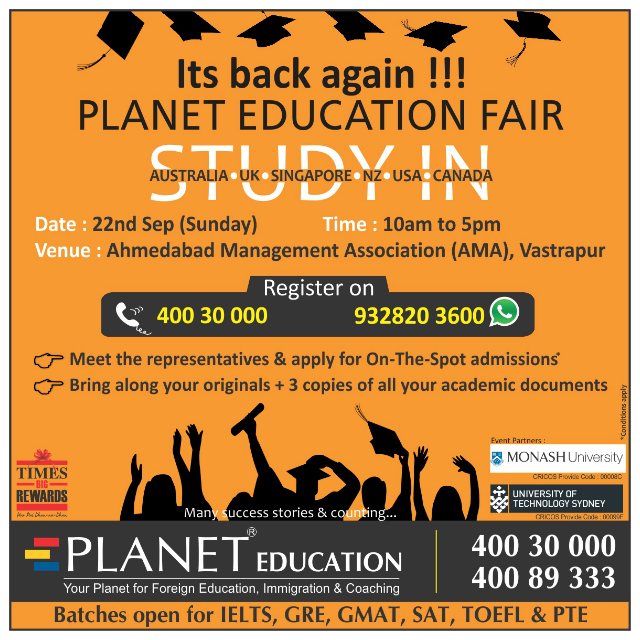 Event details | Planet Education Fair in Ahmedabad