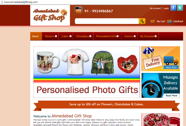 Ahmedabad Gift Shop: The best online source to send gifts to Ahmedabad
