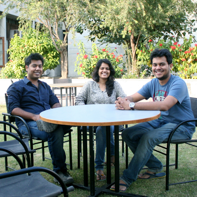 Gridle.in Founders: Yash Shah, Anupama Panchal and Abhishek Doshi (L to R)