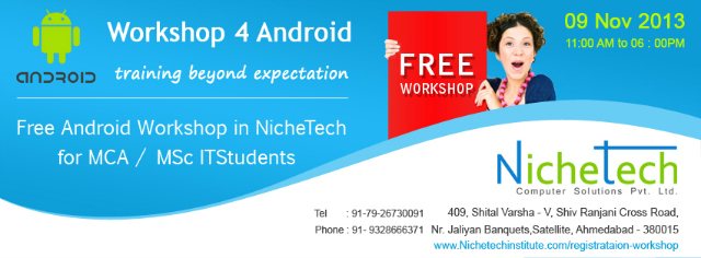 Free Android Workshop In Ahmedabad