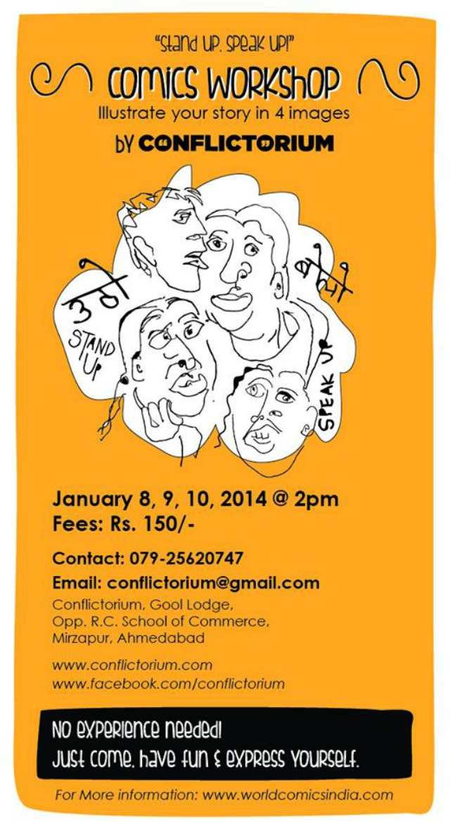 Comics Workshop in Ahmedabad