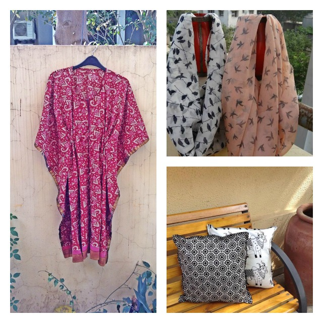 Kaamchori: pick their kaftaans, totes, cushion covers, scarves and eco-friendly lamps